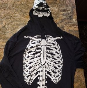 Men's  All the way zip-up skeleton hoodie